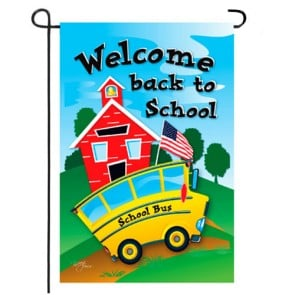 School Bus Garden Flag
