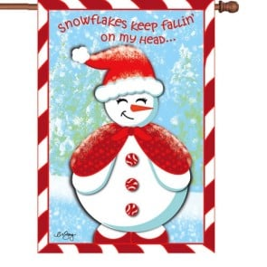 Snow Cutie  Winter House Flag