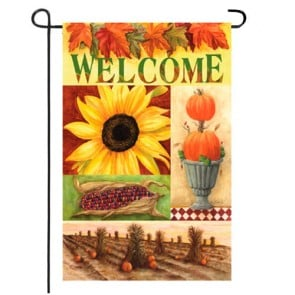Sunflower Cottage Garden Flag