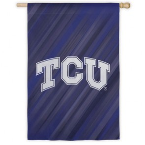 Texas Christian University  TCU  House Flag