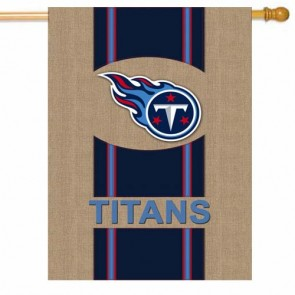 Tennessee Titans Burlap House Flag