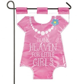 Thank Heaven for Little Girls Garden Flag