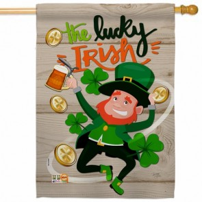 The Lucky Irish House Flag