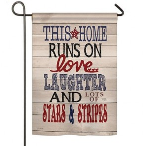 This Home Stars and Stripes Garden Flag