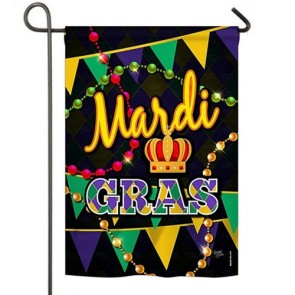 Time to Mardi Gras Garden Flag