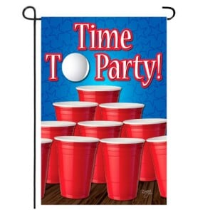 Time to Party Garden Flag
