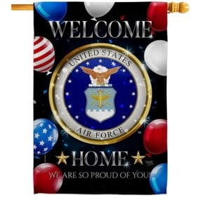 Welcome Home Air Force House Flag