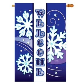 Welcome Winter House  flag