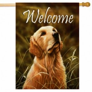 Yellow Lab House Flag